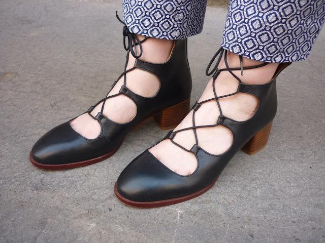 Topshop Kirk Ghillie Black Shoes | Petite Silver Vixen