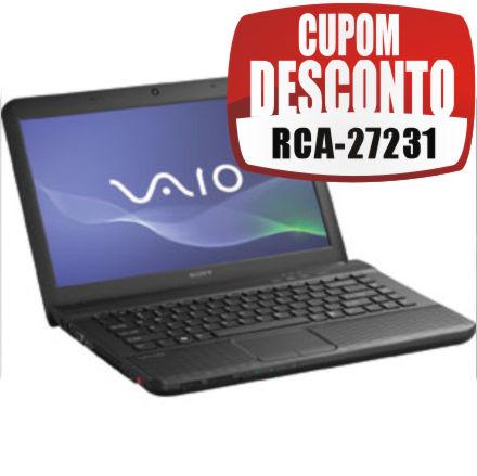 Cupom Efácil - Notebook Sony Vaio VPCEG13EB Intel Core I3