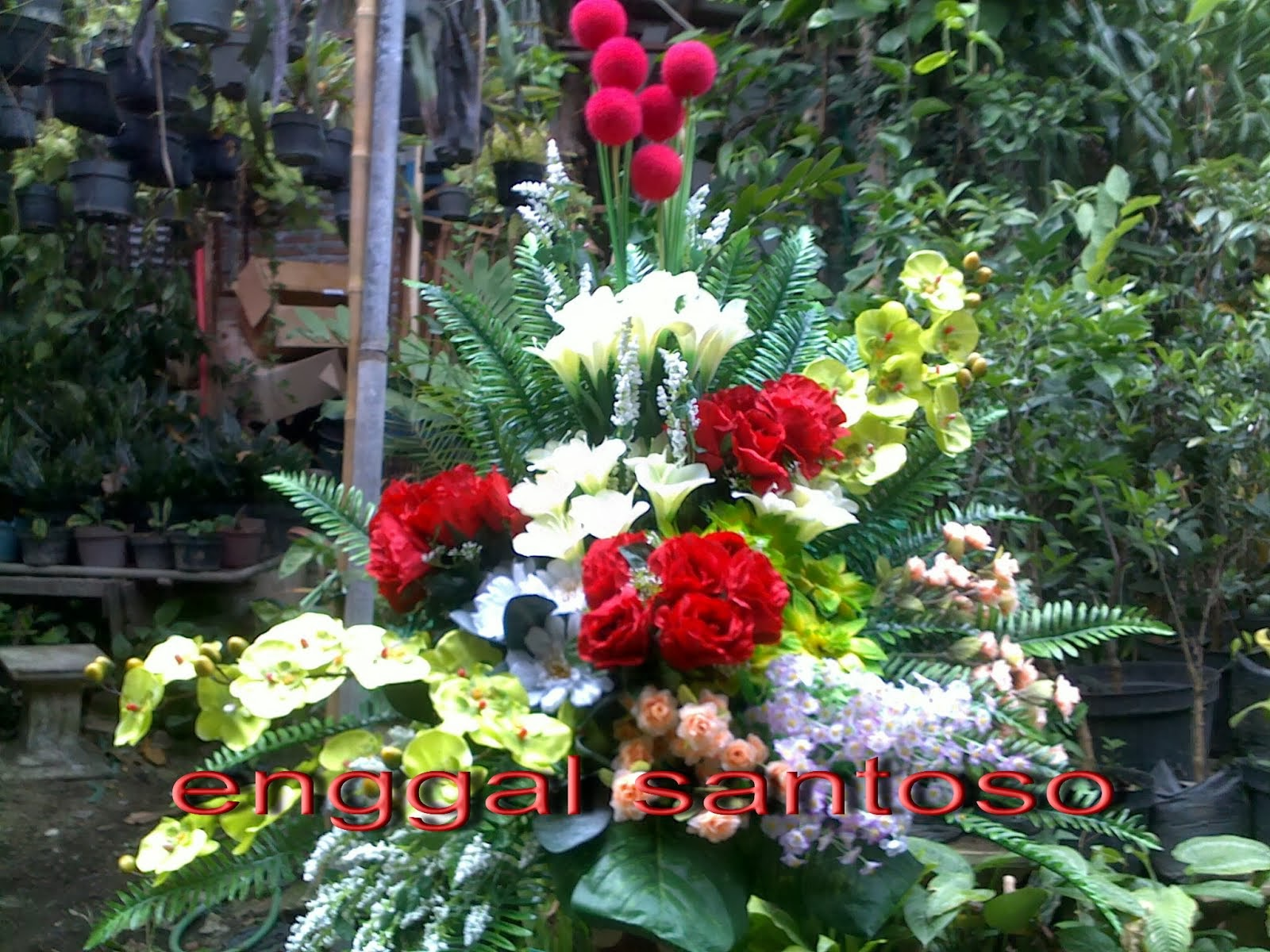rangkaian bunga artificial