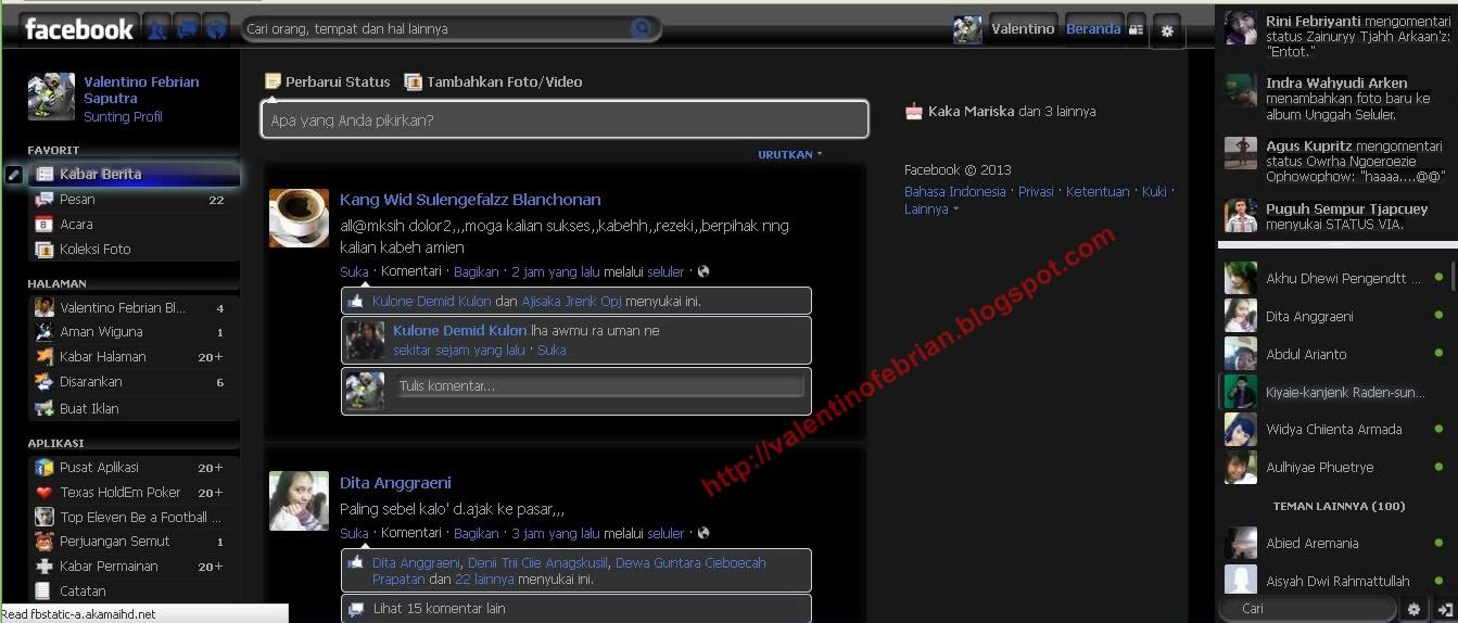 Cara Mengganti Tema/Tampilan Facebook Juni 2013