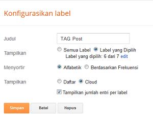 Cara Mempercantik Label Cloud Untuk Blogger