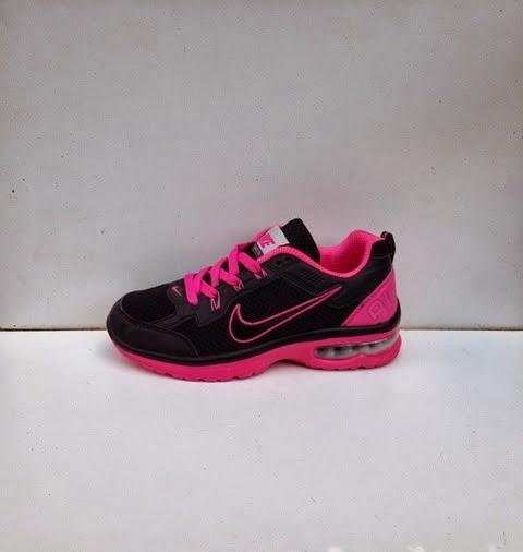 sepatu nike air max hitam pink.