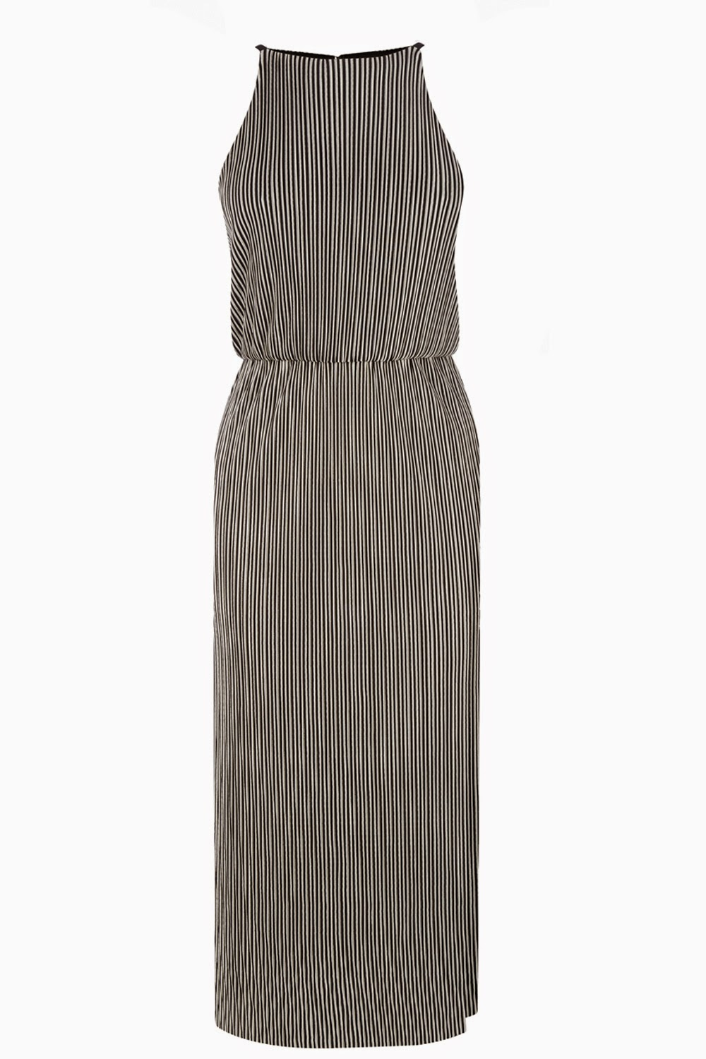 warehouse striped midi dress