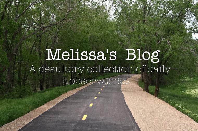 melissa's blog