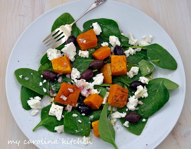 My Carolina Kitchen: Spicy Roasted Butternut Squash, Feta, and Olive ...