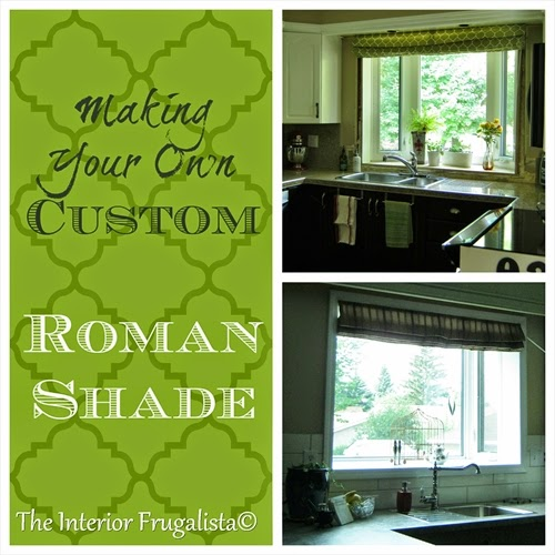 Custom Roman Shades by a novice sewer