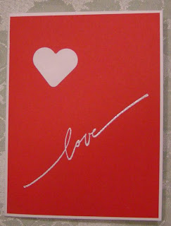 Love Card made with Stampin'UP!'s Best of February set Wonderful Word Love.