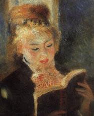 Mujer leyendo.