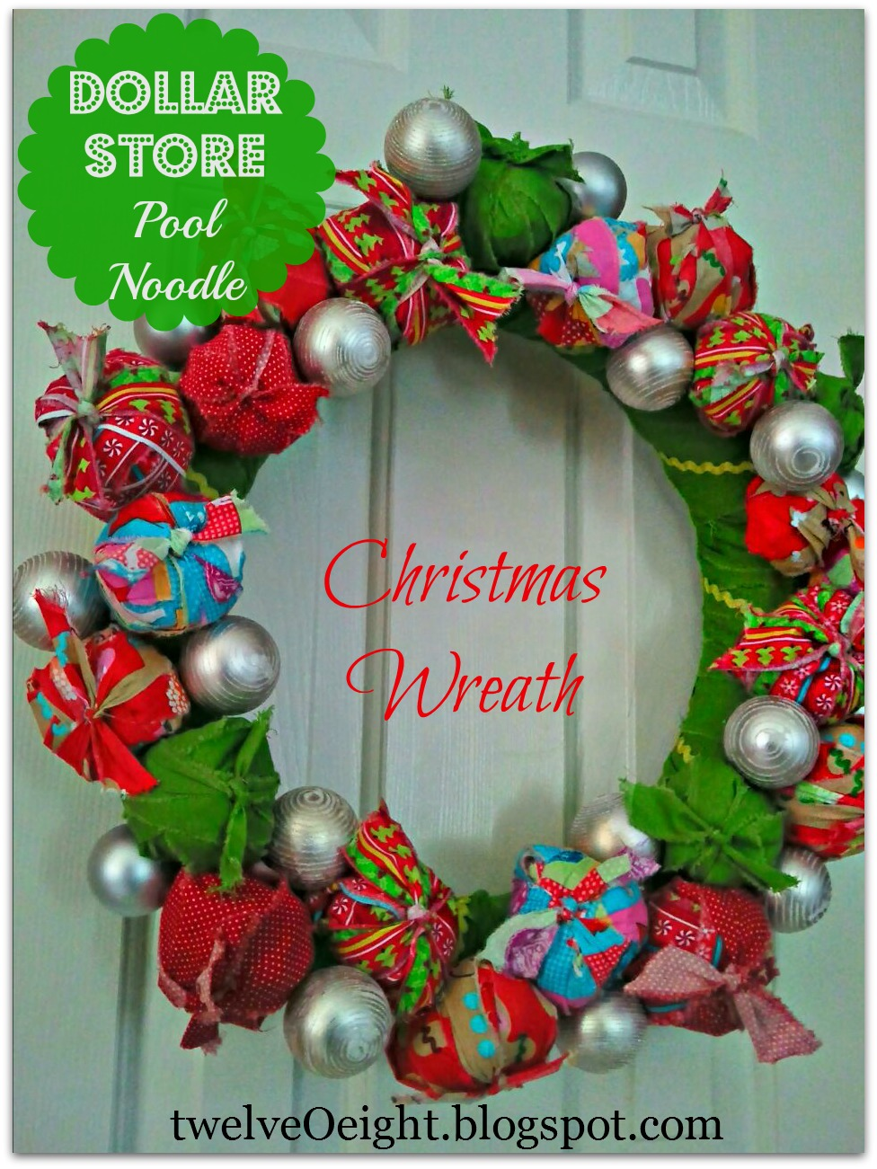 dollar store christmas crafts pool noodle christmas wreath - Dollar Store Christmas Crafts