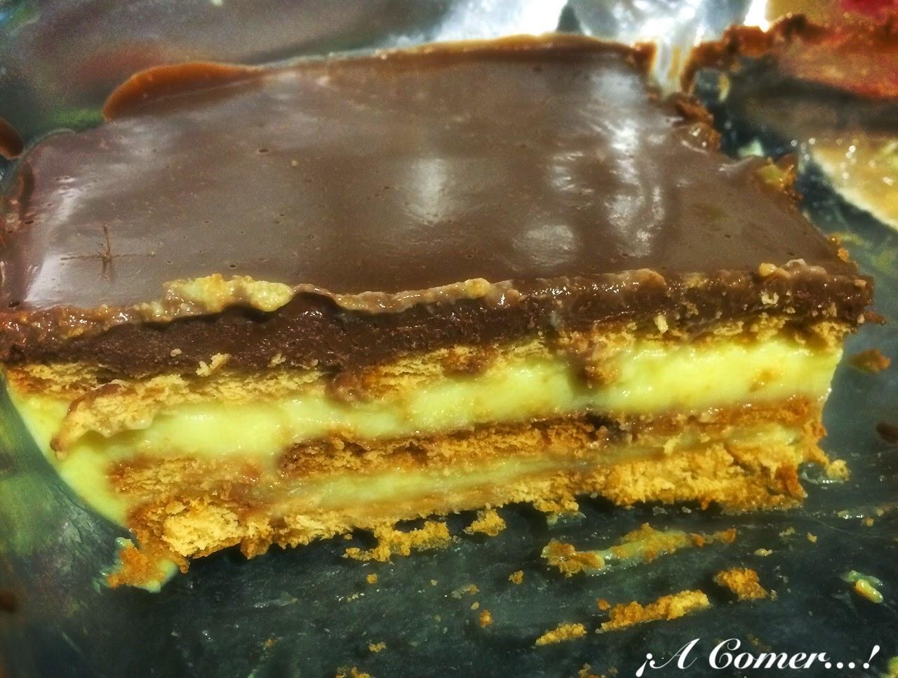 A comer tarta de la abuela galletas y natillas con - La cocina dela abuela ...