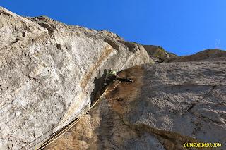 Escalada del Cueto del Valle en Liebana, desfiladero de la Hermida, Fernando Calvo
