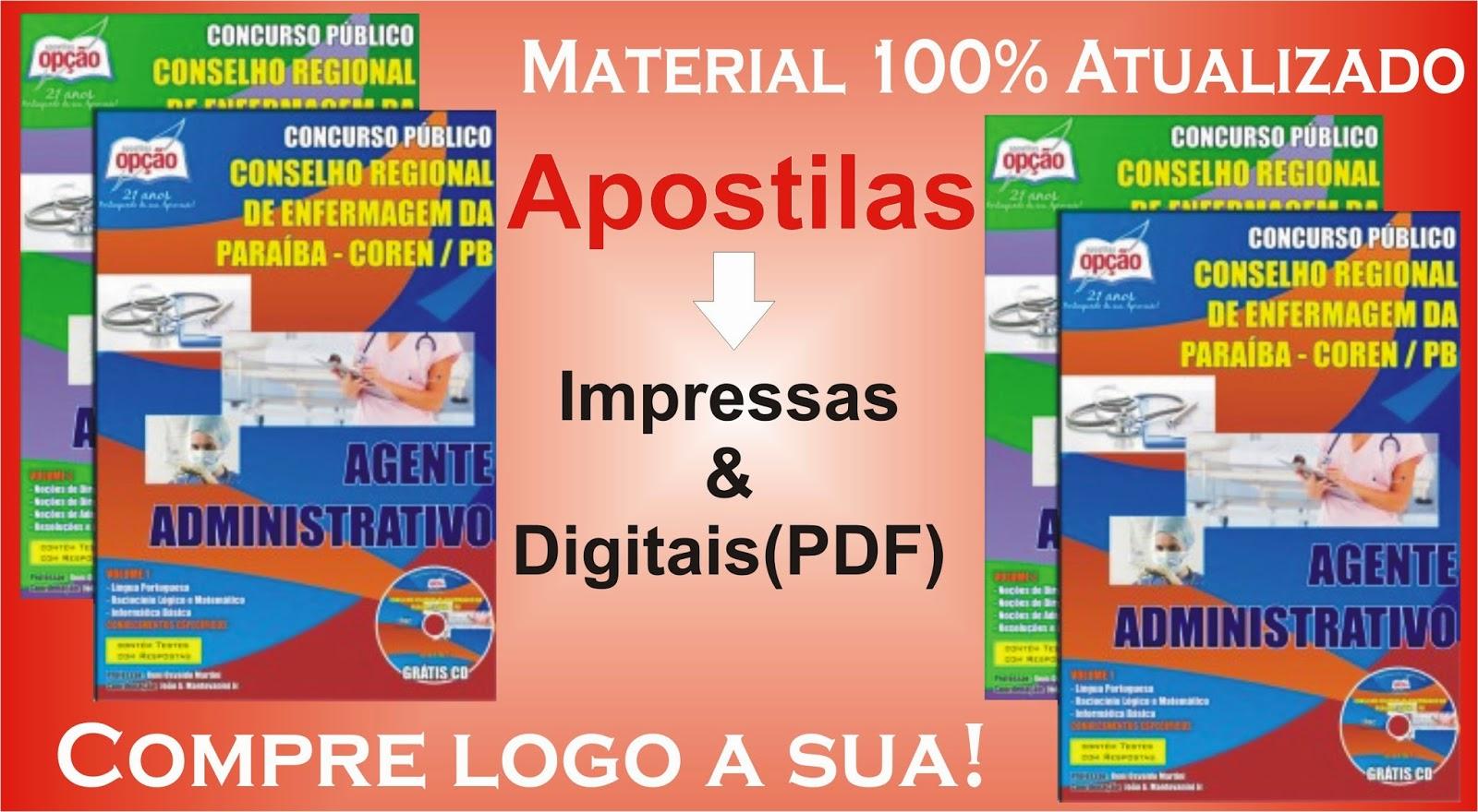 http://www.apostilasopcao.com.br/apostilas/1322/2302/conselho-regional-de-enfermagem-da-paraiba-coren-pb/agente-administrativo.php?afiliado=2561