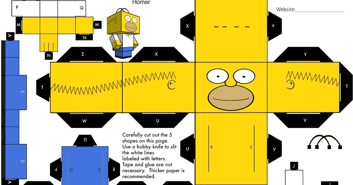 Espacio raro paper toys simpsons - Homer simpson tout nu ...
