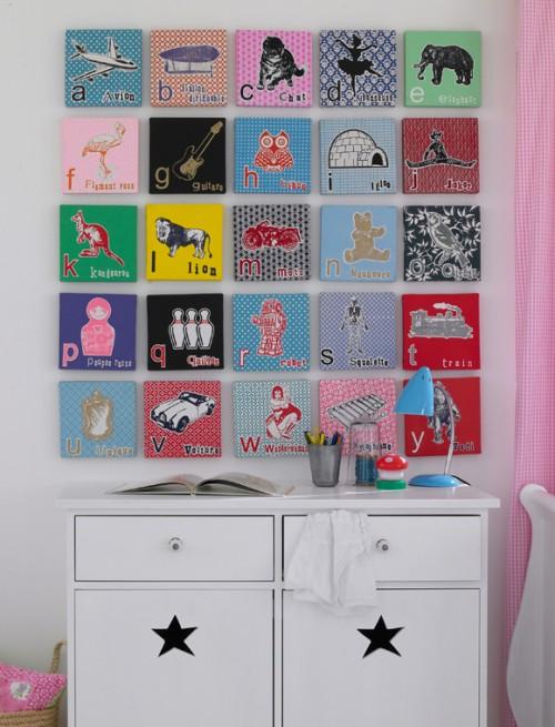 Hoy hablamos de lienzos originales hazlo tu misma - Cuadros para una habitacion ...