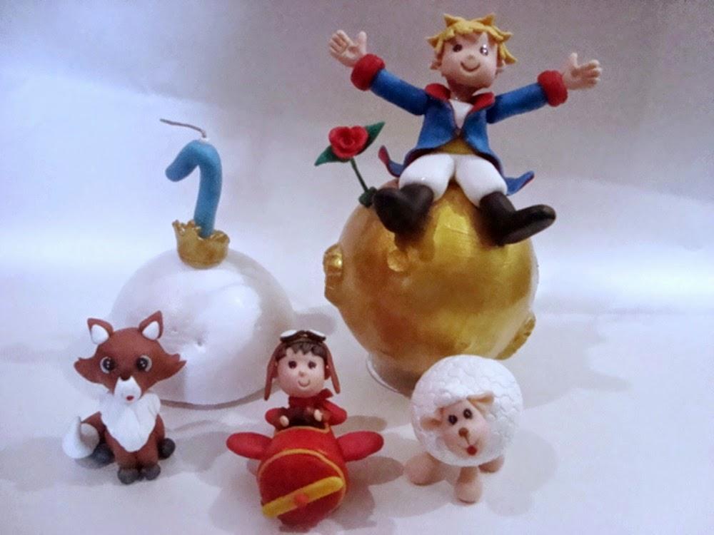 personagens pequeno principe de biscuit