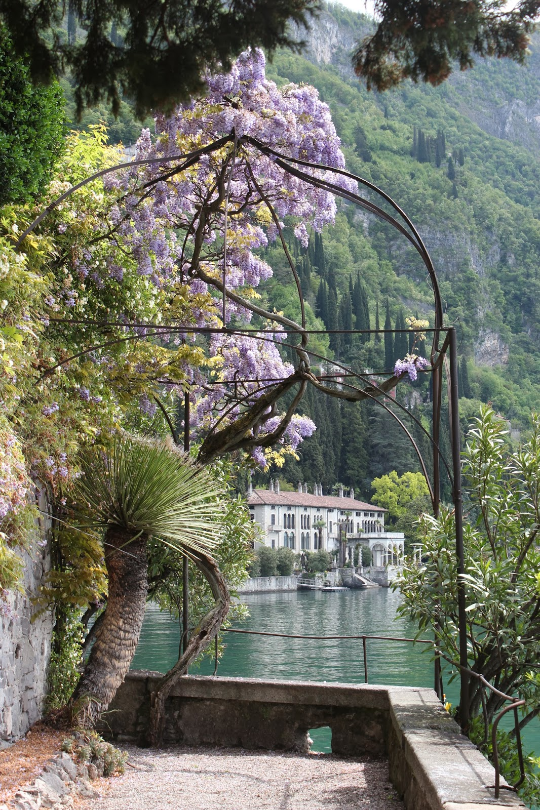 Italian Garden with Wisteria; Lake Como 2