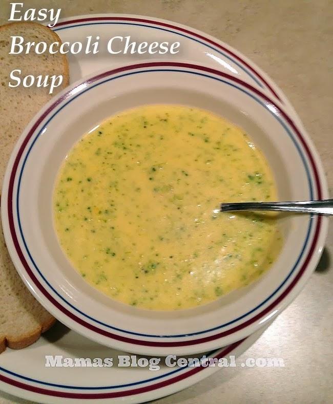Easy Broccoli Cheese Soup @ Mamas Blog Central