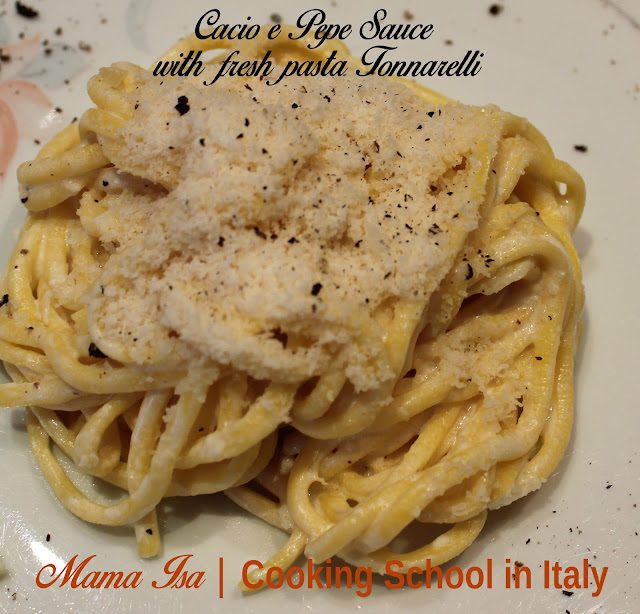 Cacio e Pepe Sauce at Mama Isa Cooking School | Recipe