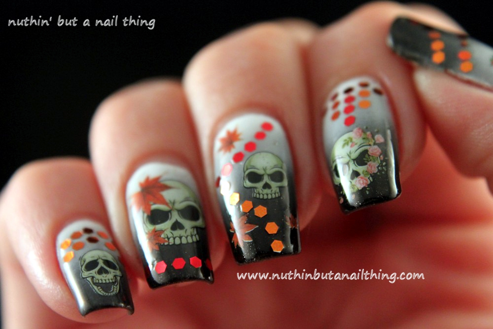nuthin\' but a nail thing: Born Pretty Store: Skull Water Decals