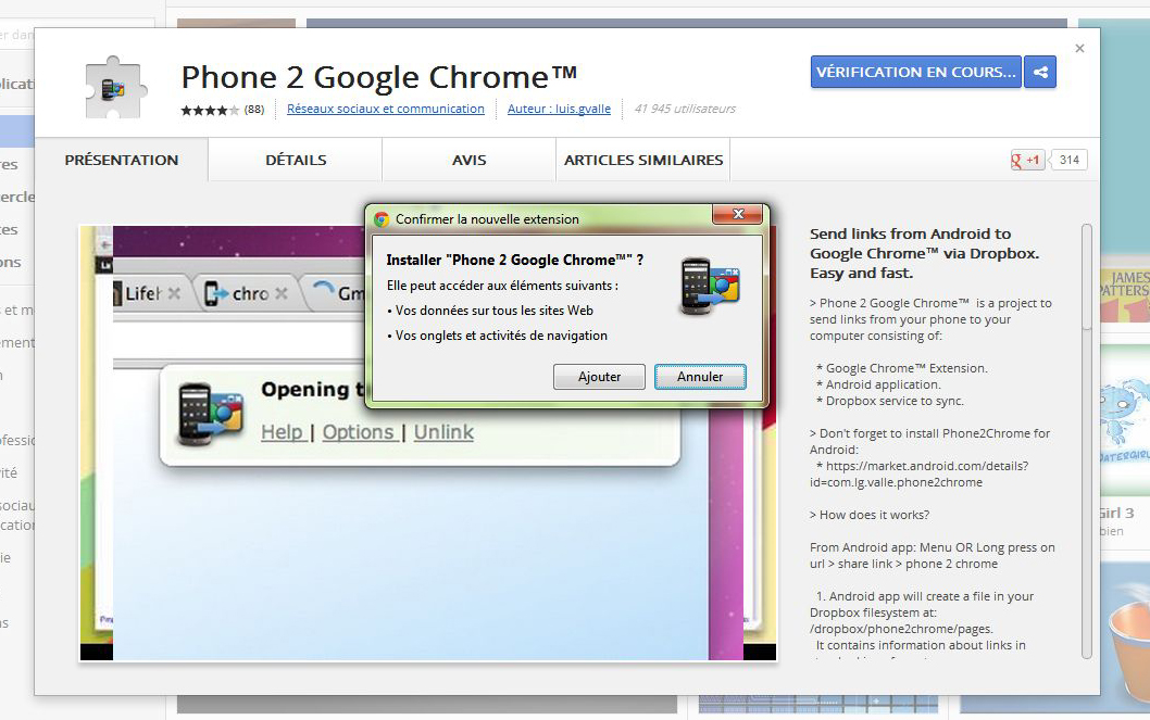 Phone 2 Google Chrome browser is a project to send links from Android ...