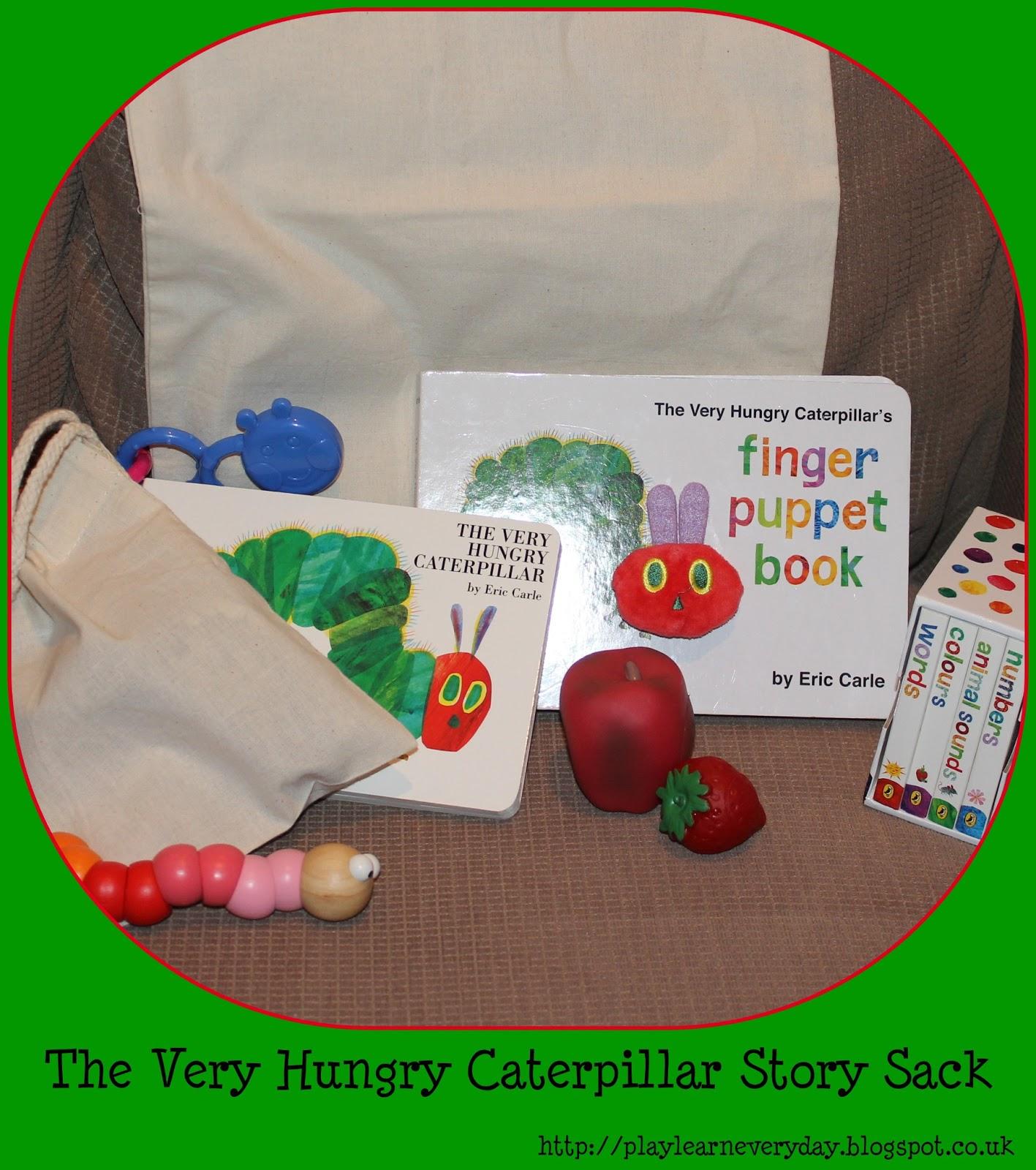 The very hungry caterpillar story sack jpg