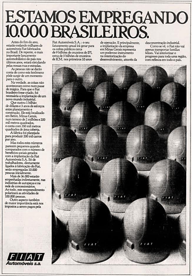 Fiat. reclame de carros anos 70. brazilian advertising cars in the 70. os anos 70. história da década de 70; Brazil in the 70s; propaganda carros anos 70; Oswaldo Hernandez;
