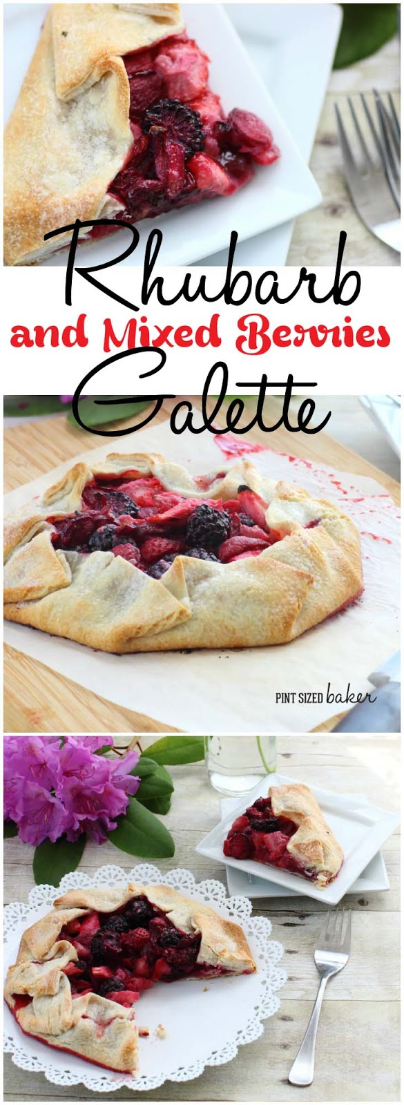 Quick, easy, and so good - this Rhubarb and Mixed Berry Galette is perfect for a weeknight dessert for your family.