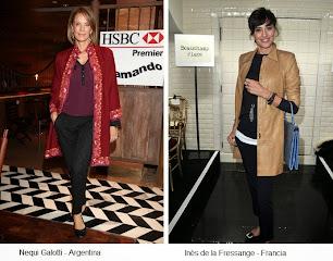 Nequi Galotti e Inès de la Fressange, se parecen en estilo y elegancia.