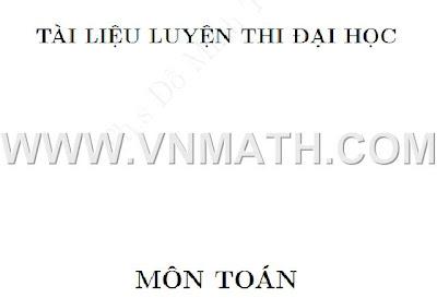 chuyen de luyen thi dai hoc, do minh tuan, on thi dai hoc 2012