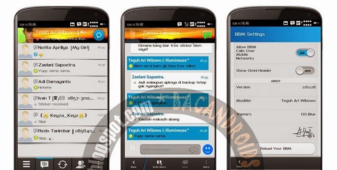 Download BBM Mod Terbaru versi 2.6