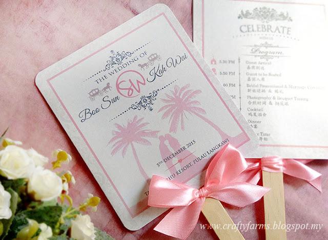 Bilingual Beach Wedding Ceremony Program Fan Pulau Langkawi Resort, Malaysia