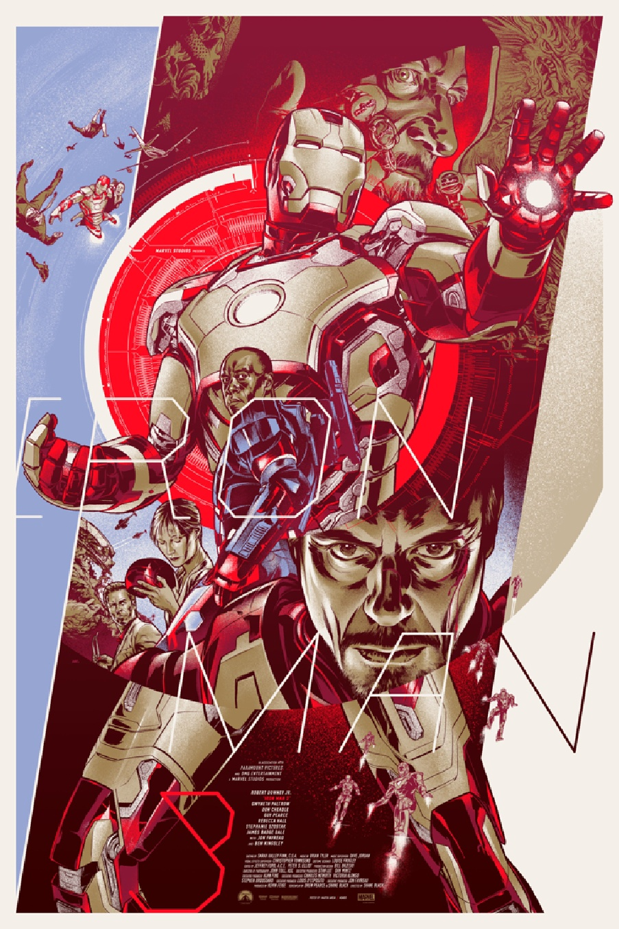 the blot says iron man 3 screen print by martin ansin. Black Bedroom Furniture Sets. Home Design Ideas