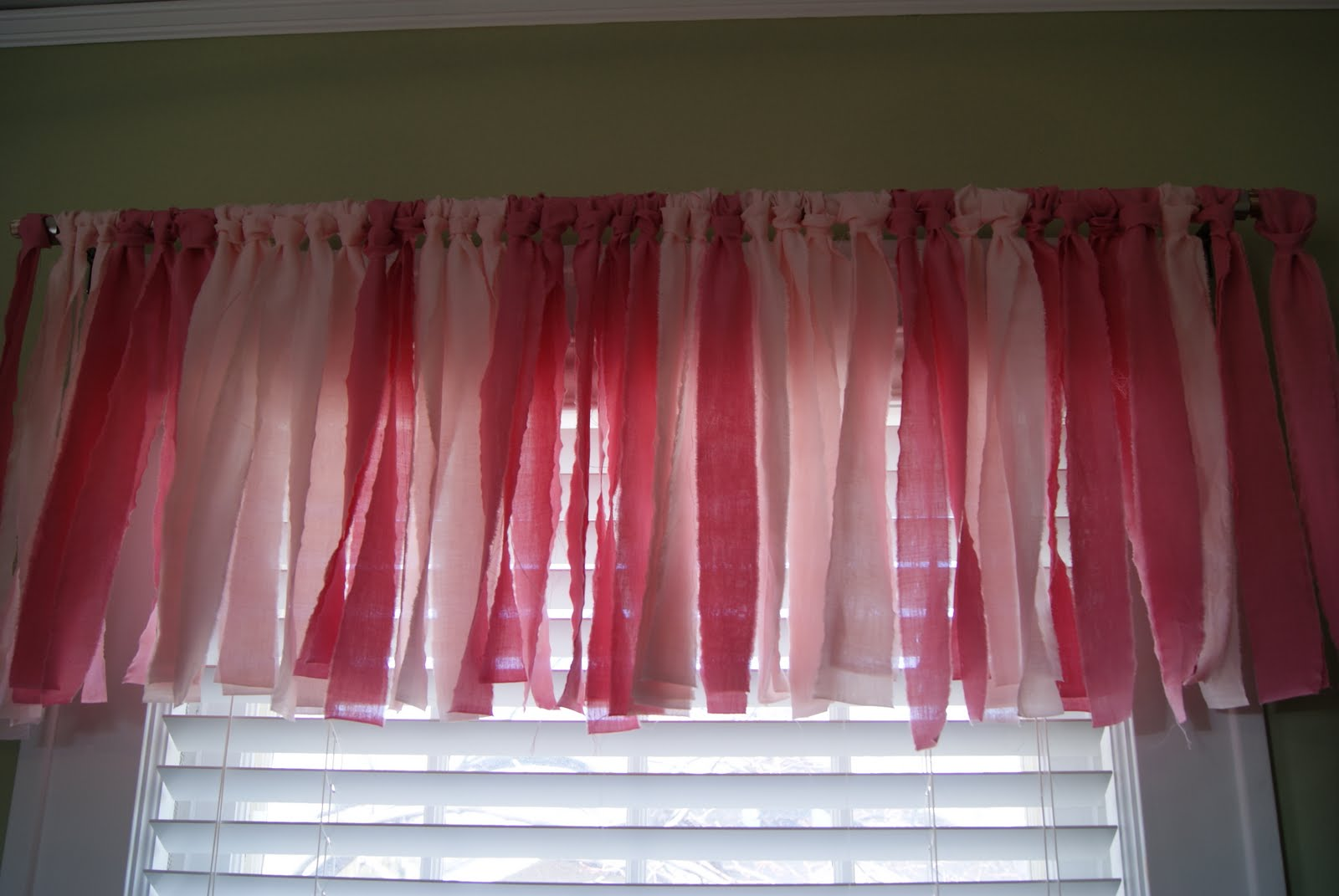 images of fabric strips turned into curtain valance wallpaper