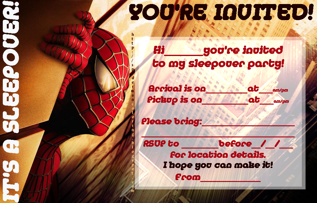 Free Spiderman Party Invitation Printable – orderecigsjuice.info