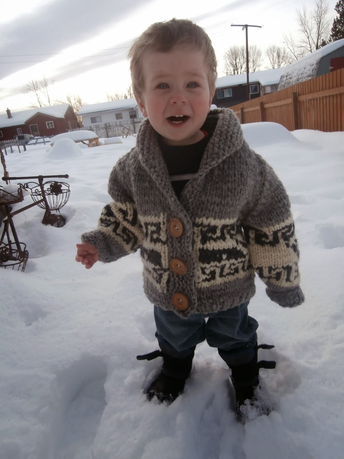 Honey Nutbrowns: Knitting!: Northern Whale Cowichan Sweater - Toddler