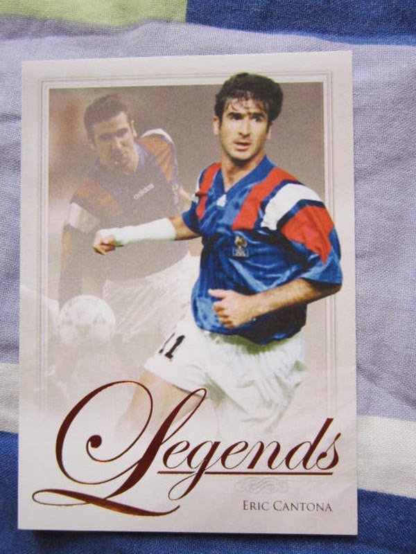 Futera Series 4 Legends LEG07 Eric Cantona Manchester United Leeds France England BPL Premier League Futera series 4 FWF online World Series Legends Superstars MemoPower Heroes Authograph Physical cards FIFA World Cup Brazil 2014 Football Soccer Sangju Sangmu FC  series 4 FWF online World Series Legends Superstars MemoPower Heroes Authograph Physical insert actual cards Real Madrid Barcelona Liverpool Chelsea Arsenal Manchester United Man U BPL Premier League Man of the Match MOTM MOM 100 club Topps Match Attax Roberto Baggio Zlatan Ibrahimovic printed actual Lionel Messi