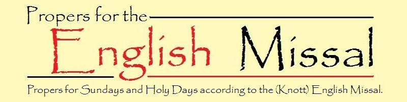 Propers of the English Missal