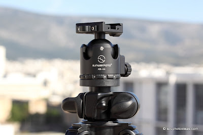 Sunwayfoto XB-44 Low Profile Ball Head on Benro A296EX