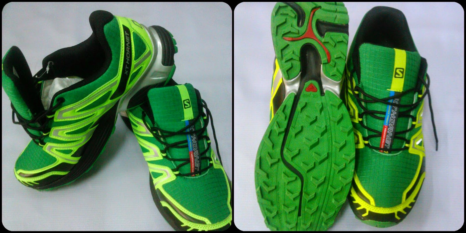 mens salomon xt hornet green