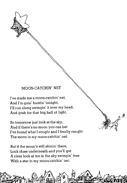 Shel Silverstein ~ Moon Catchin' Net www.thebrighterwriter.blogspot.com
