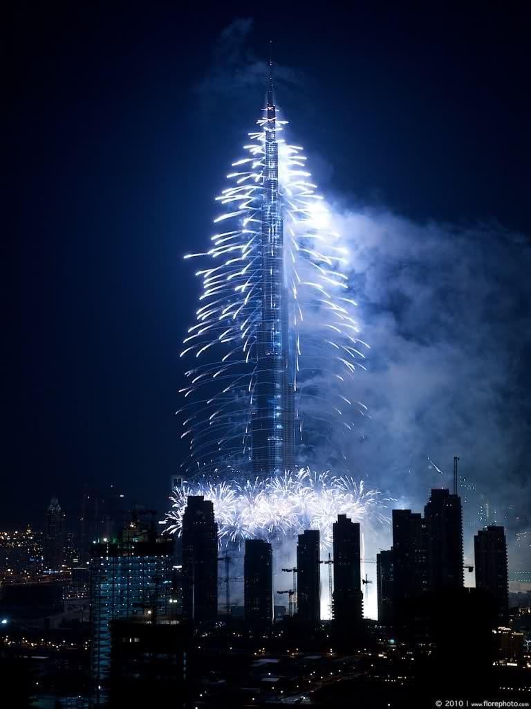 Idee per viaggiarelavoriamo a colori il capodanno a for Burj al khalifa how many floors