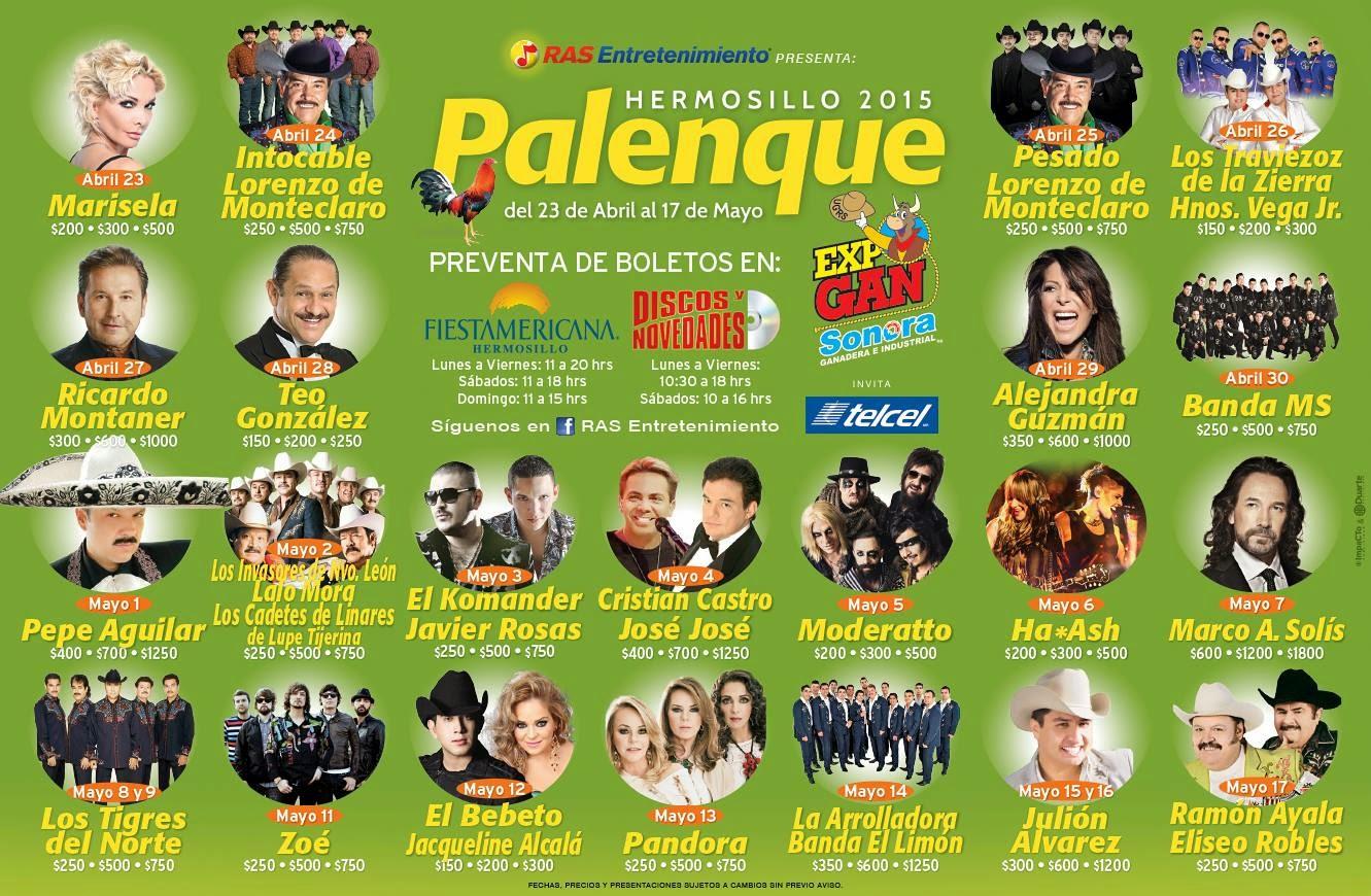 expogan sonora 2015 palenque artistas
