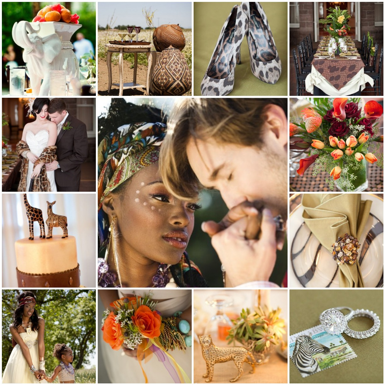 African safari the blushing bride for African wedding decoration theme