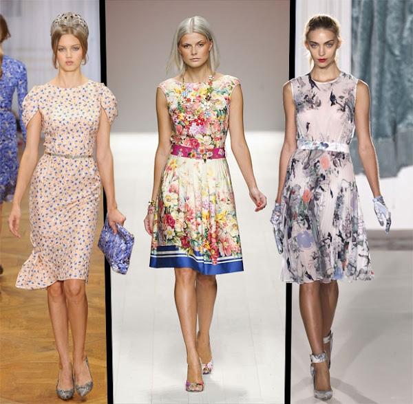 Estampados florales en los vestidos - Moda