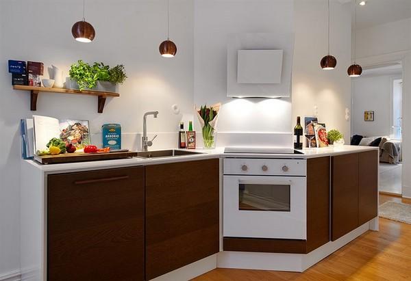 Art d co deco cuisine luxe - Cuisine blanche et marron ...