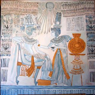 Tut's Throne - Ankhesenamun's dress