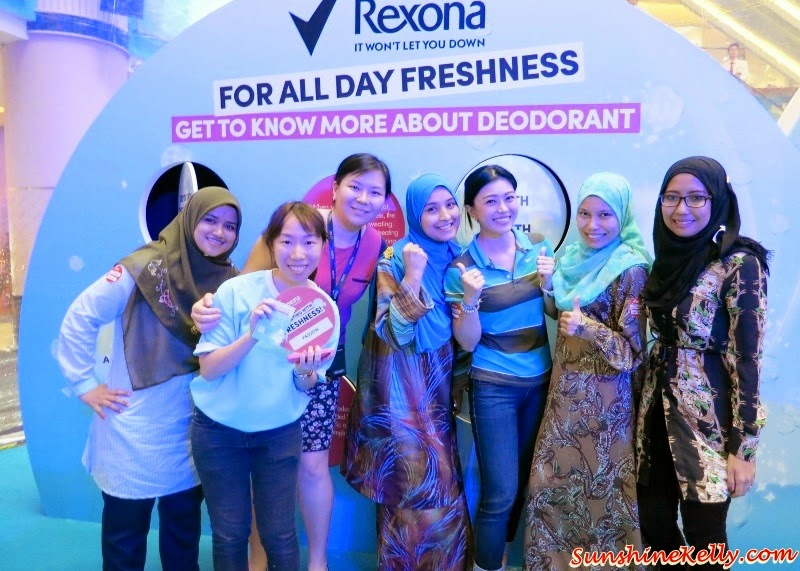 Rexona Spray for Women, Freshprotect, Rexona Spray for Women Launch, Rexona Freshness Challenge, Rexona, Deodorant, Sunway Pyramid, Power Dry, Free Spirit, Whitening, Shower Clean, Passion