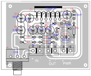 Layout TDA2005 Audio Amplifier 2x10w