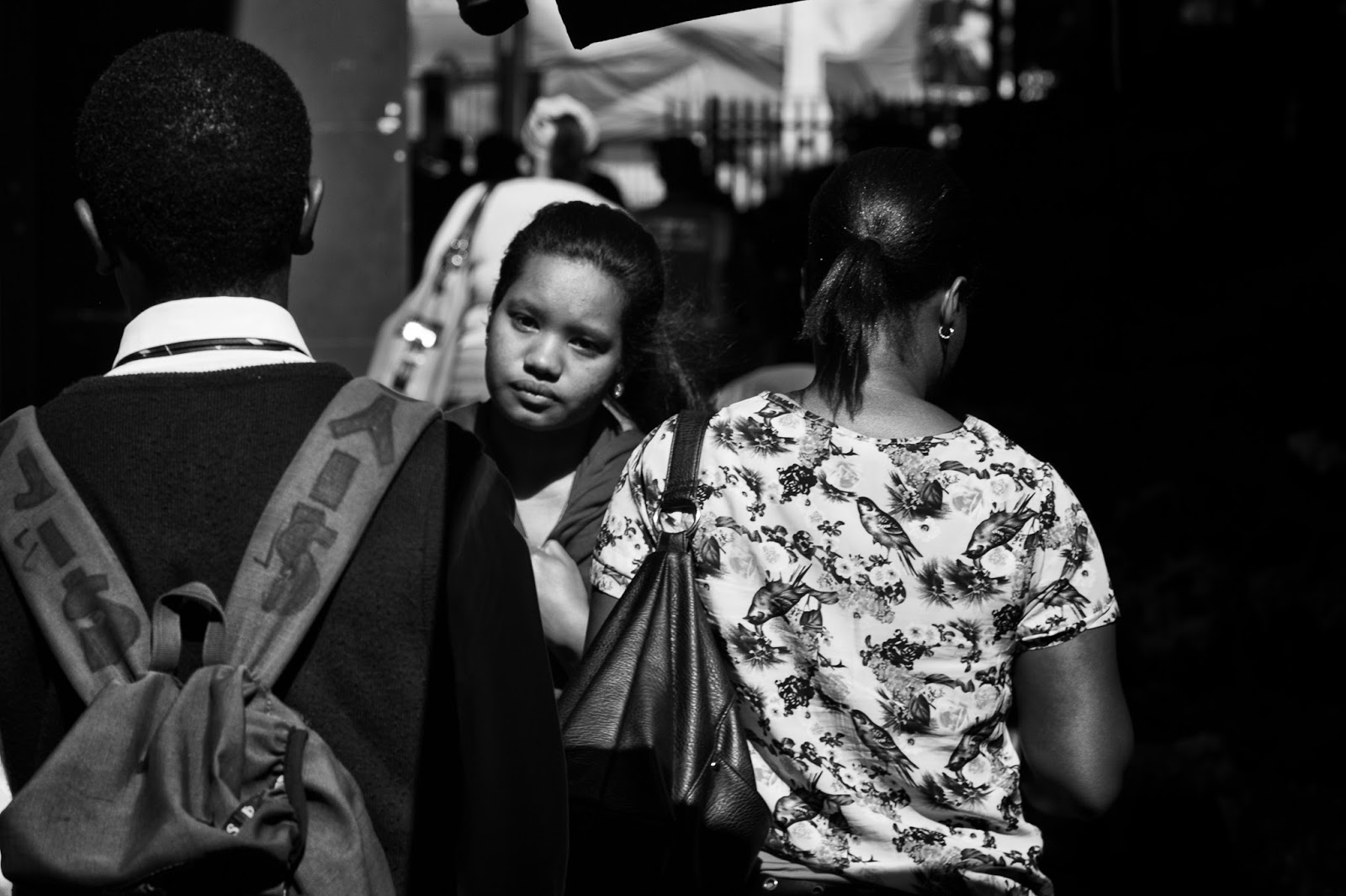 A woman walking in Cape Town - this photo expresses a sense of loneliness perhaps