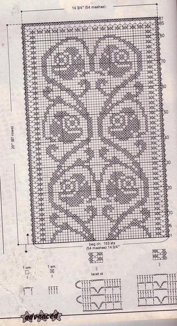 Как раскрасить филейное вязание 65